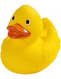 Renn-Ente mit Metallplatte